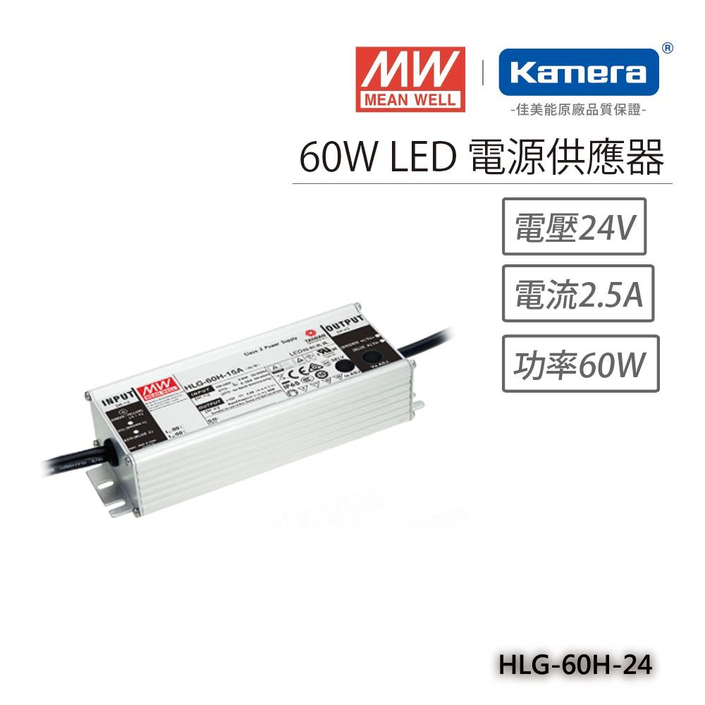 明緯 60W LED電源供應器(HLG-60H-24)