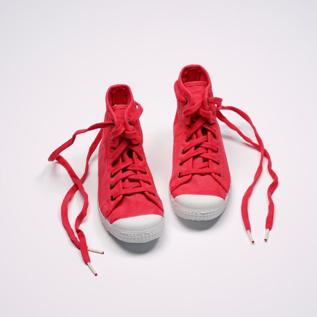 CIENTA 西班牙帆布鞋 61997 49 草莓紅 經典布料 童鞋 高筒