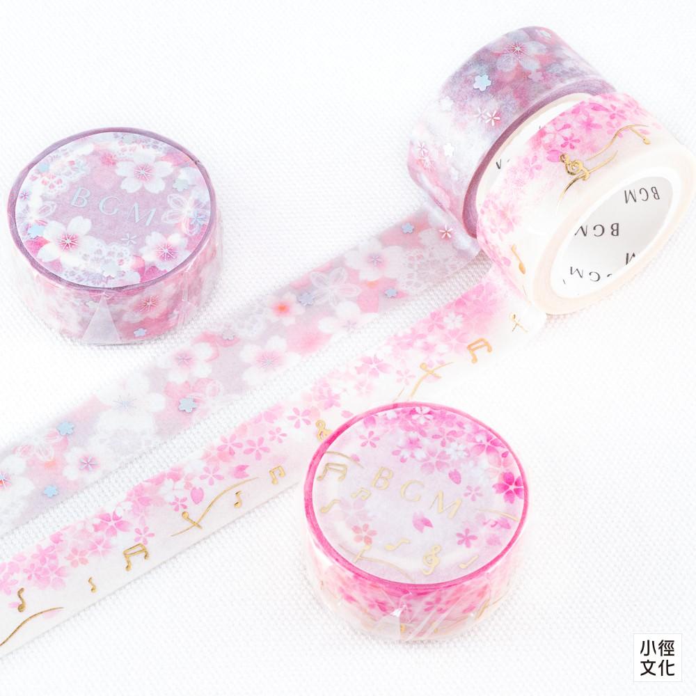 【BGM】日本進口 BGM特殊箔押和紙膠帶 春季櫻花系列  ( BM-SPSA017, BM-SPSA018 )