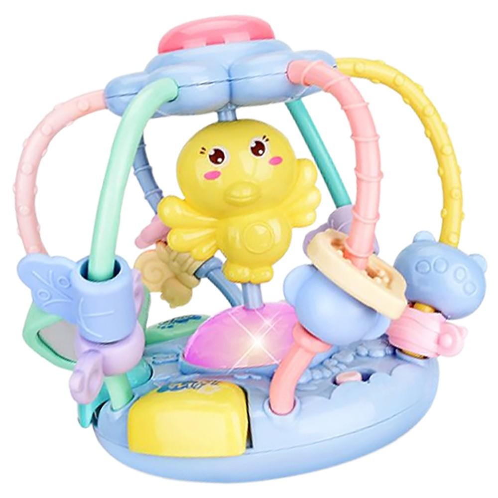 嬰兒玩具小雞音樂故事機牙膠手搖鈴益智早教手抓球 雪倫小舖【CY92188】