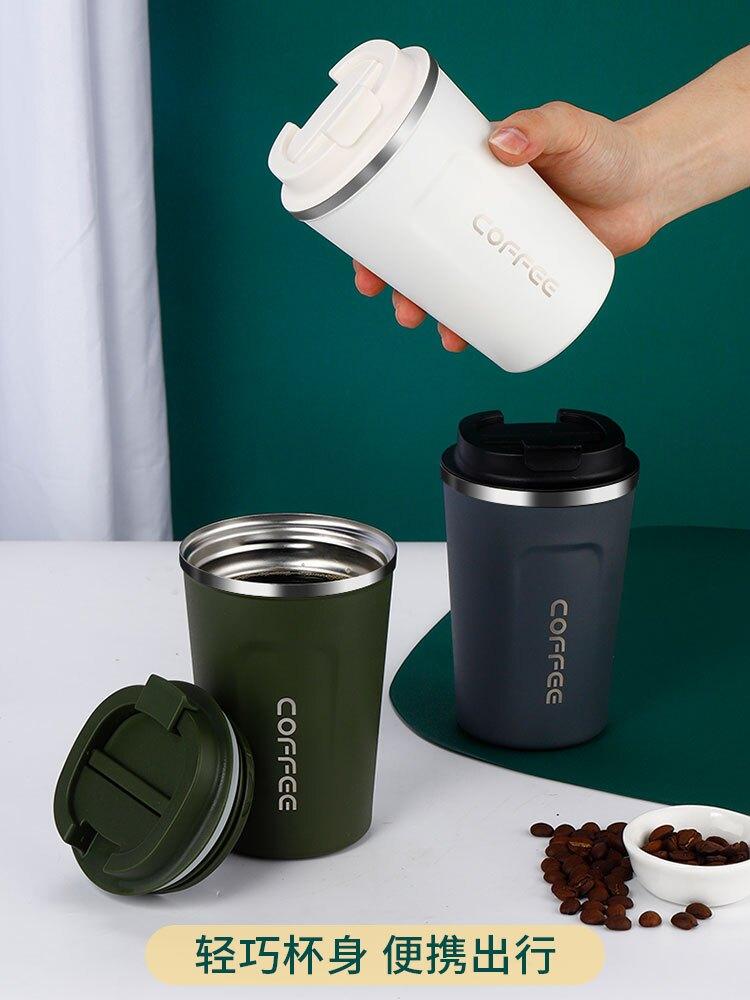 不銹鋼保溫水杯高顏值水杯兒童水杯上學專用便攜隨身大容量咖啡杯