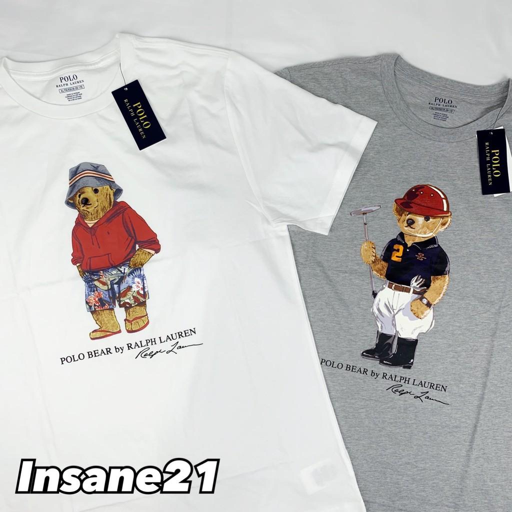 【特價商品】POLO RALPH LAUREN 小熊 灰/白 男女【Insane-21】