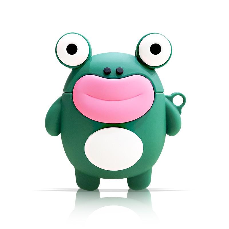【全館免運】airpods保護套適用于蘋果一二三代耳機套硅膠軟殼套創意卡通青蛙ins潮1/2殼