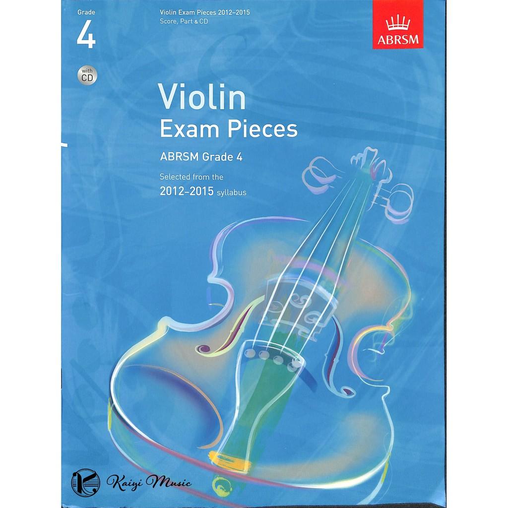 英國皇家2012-2015小提琴考試指定曲第4級Violin Exam Pieces G4&CD