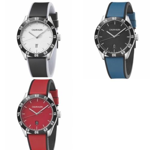 Calvin Klein CK 美式質感時尚橡膠腕錶(三款可選)42mm