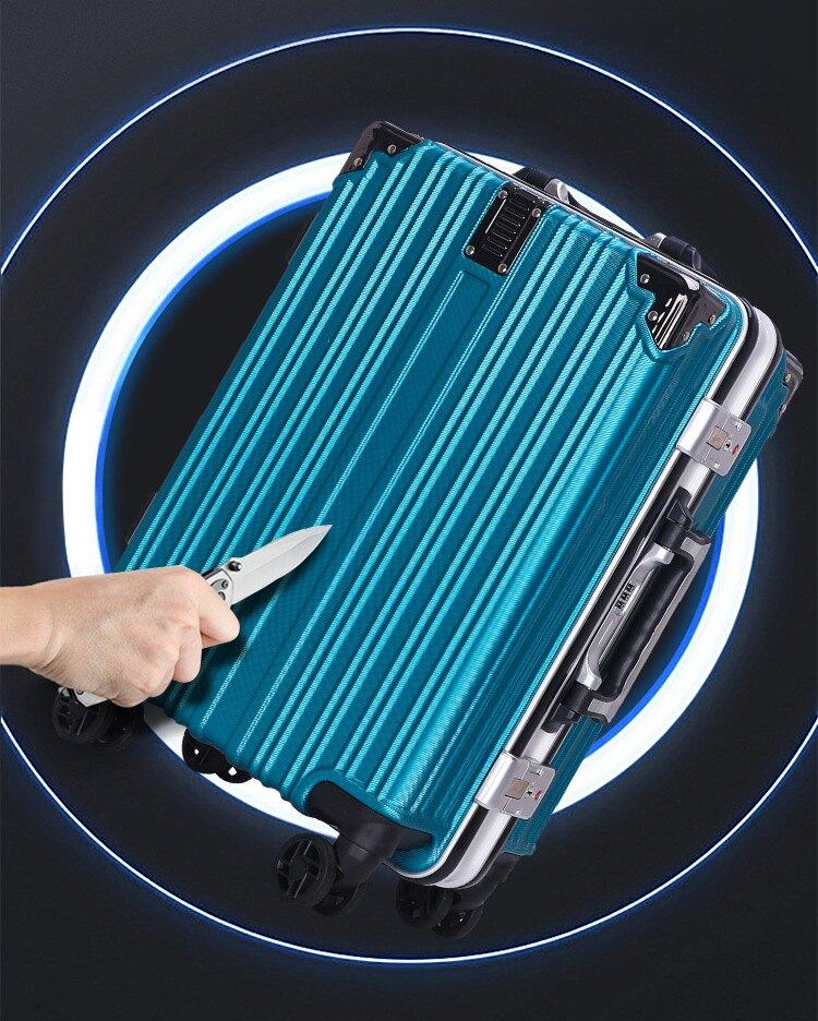 定做加厚鋁框拉桿箱旅行拉桿萬向輪行李箱運密碼箱行李箱
