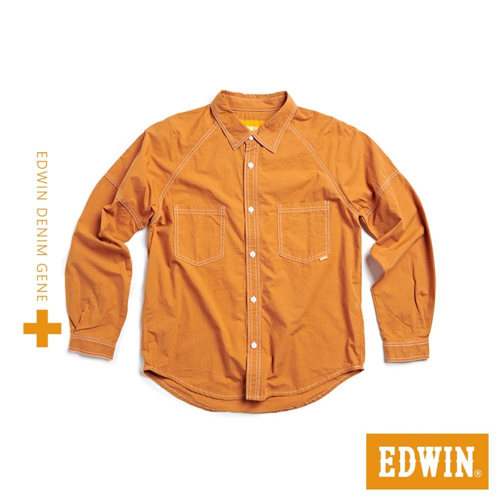 EDWIN PLUS+洗褪工裝長襯衫(暗黃)-男款