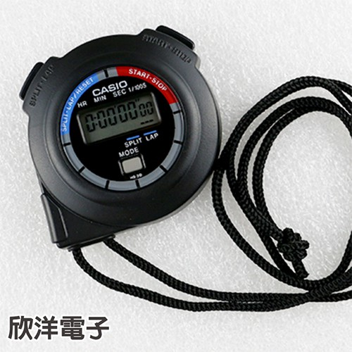 CASIO 卡西歐 碼錶 HS-3V-1B 跑步/競賽/游泳/運動/計時/速疊杯