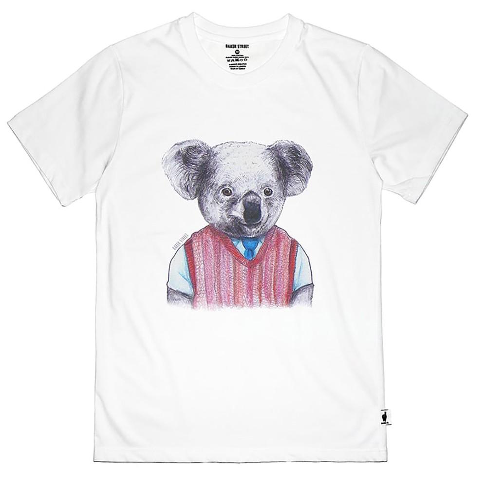 【英國 BAKER STREET 貝克街】中性版 - 純棉短袖T恤 - 水彩無尾熊