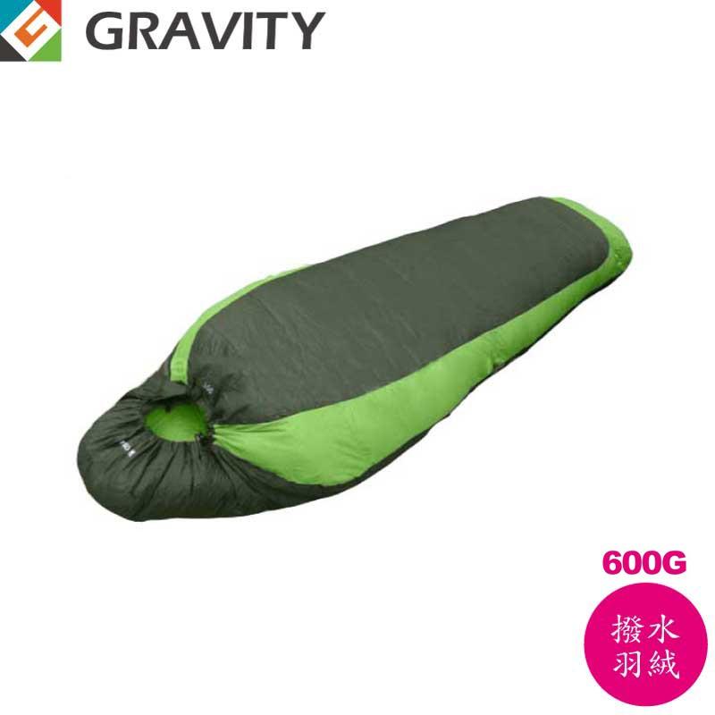 【GRAVITY 巨威特  信封型撥水羽絨睡袋600G淺綠/深綠】 111601G/羽絨睡袋/露營睡袋/睡袋/悠遊山水