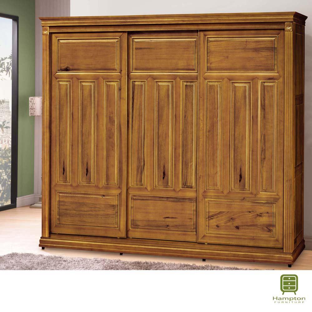 【Hampton 漢汀堡】奈格系列樟木色7尺衣櫥(衣櫃/衣櫥/櫥櫃)