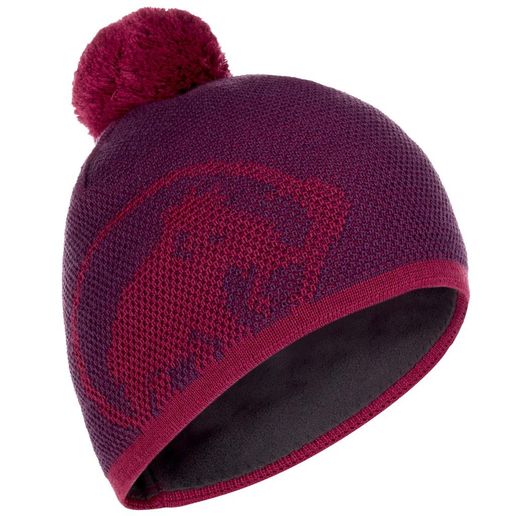 Mammut 長毛象 Snow Beanie 保暖帽 羊毛帽 毛帽 登山 滑雪 葡紫 MO200100F007 綠野山房