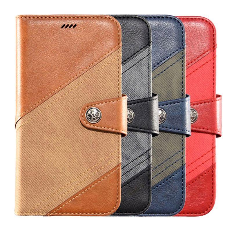 Samsung Galaxy M12 皮革保護套跳色帆布紋磁扣翻蓋皮套手機套