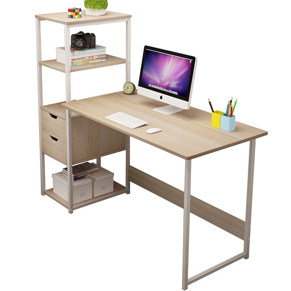 incare 層架電腦桌 電腦桌 120cm 書桌 開放式書架型書桌 多色可選 免運 廠商直送 現貨