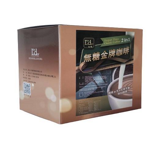 【力代】無糖金牌2合1咖啡 (14gx20入)
