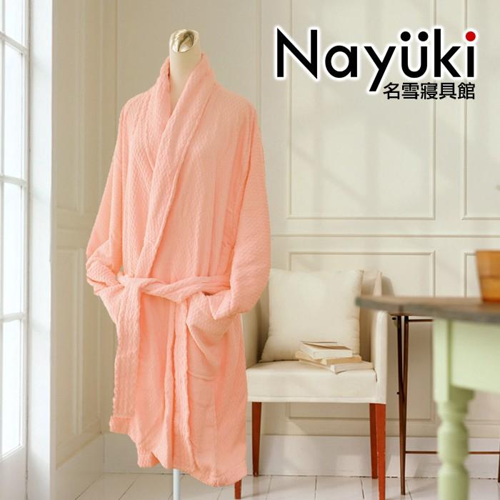純棉睡衣 粉色浴袍《名雪購物》免運 飯店級