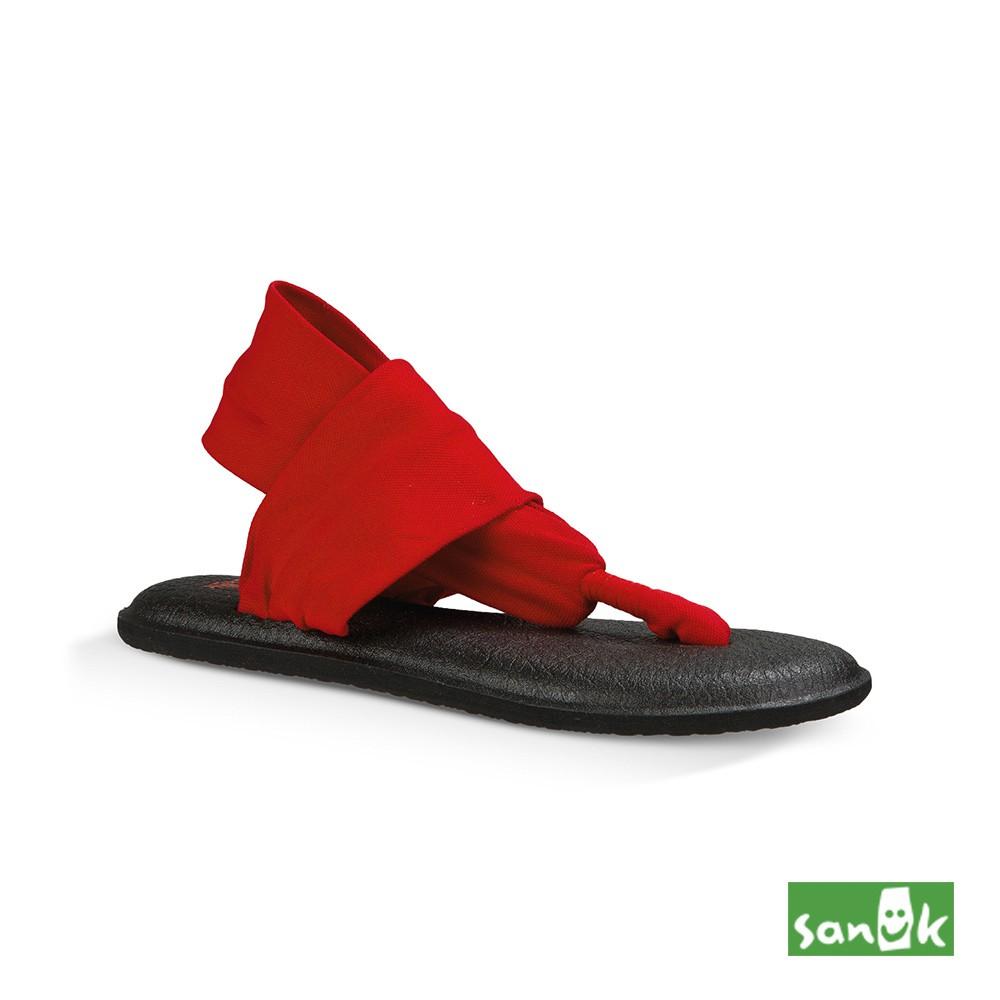 美國原廠 SANUK 素面綁帶人字涼鞋-女款(紅色)SWS10001 BHTR