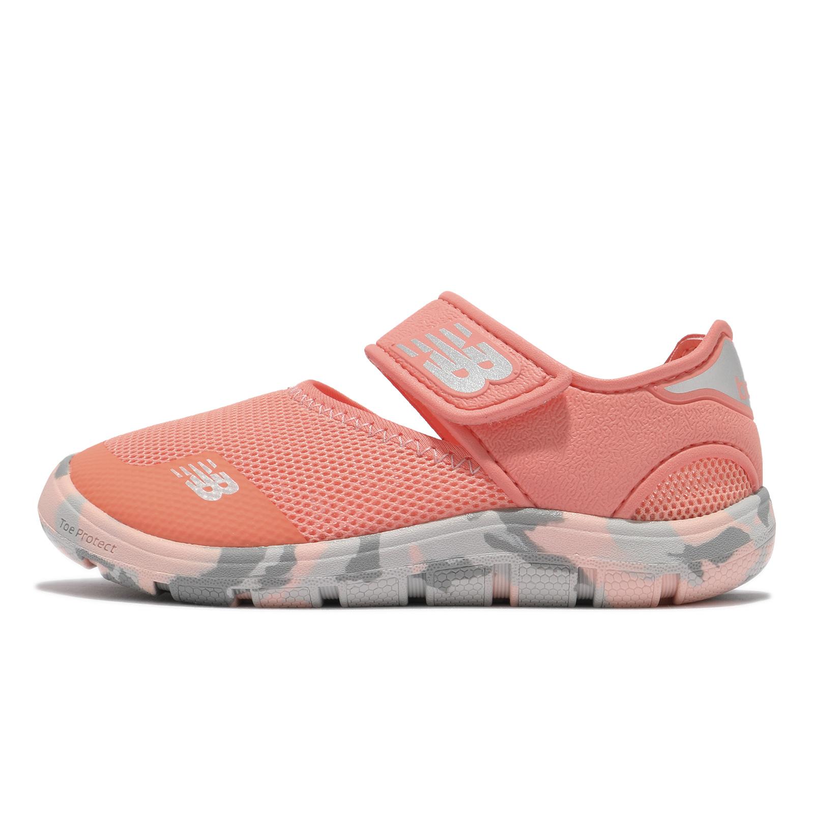 New Balance 童鞋 208 W 小朋友 NB 魔鬼氈 橘 灰 迷彩 涼鞋 運動鞋【ACS】 YO208PK2W