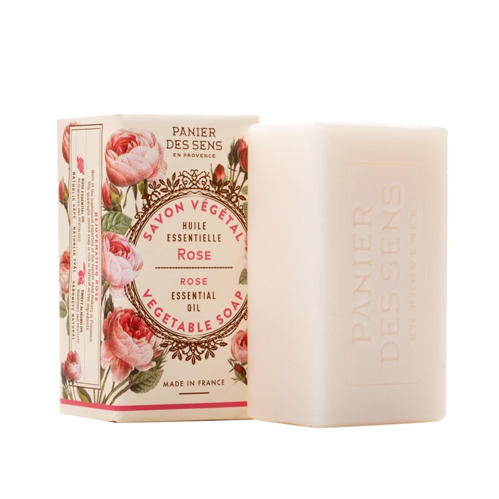 法國PANIER DES SENS-玫瑰蓓蕾 溫和植物皂150g