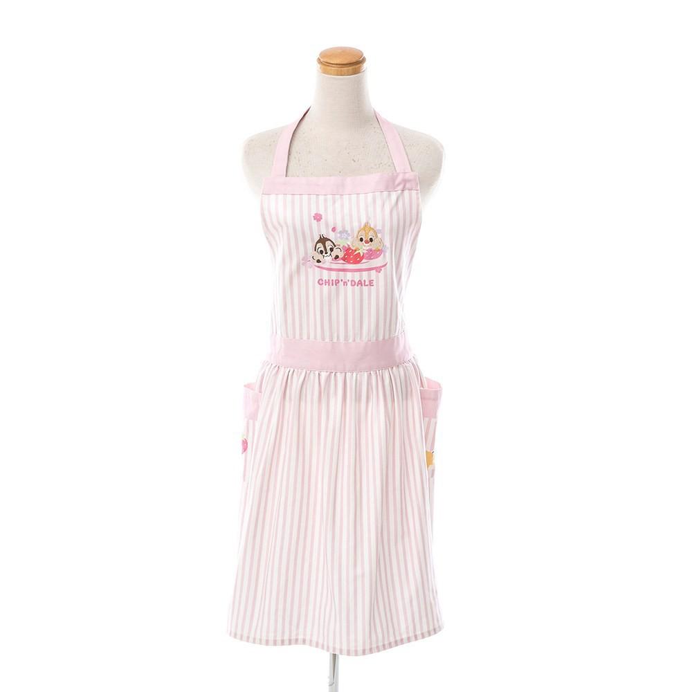 HOLA 迪士尼系列粉萌季圍裙78x86cm-奇奇蒂蒂