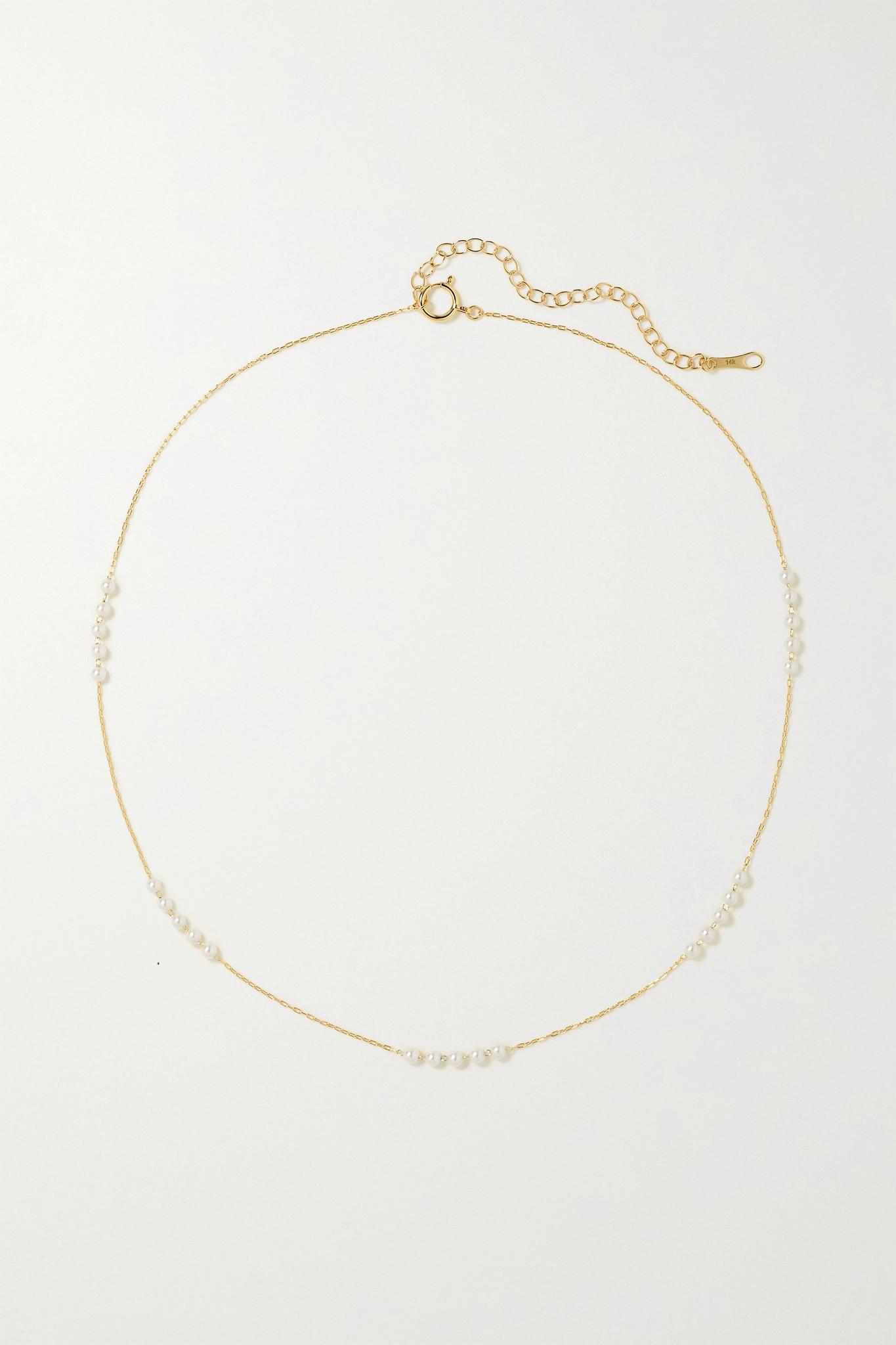 MIZUKI - 14-karat Gold Pearl Necklace - one size