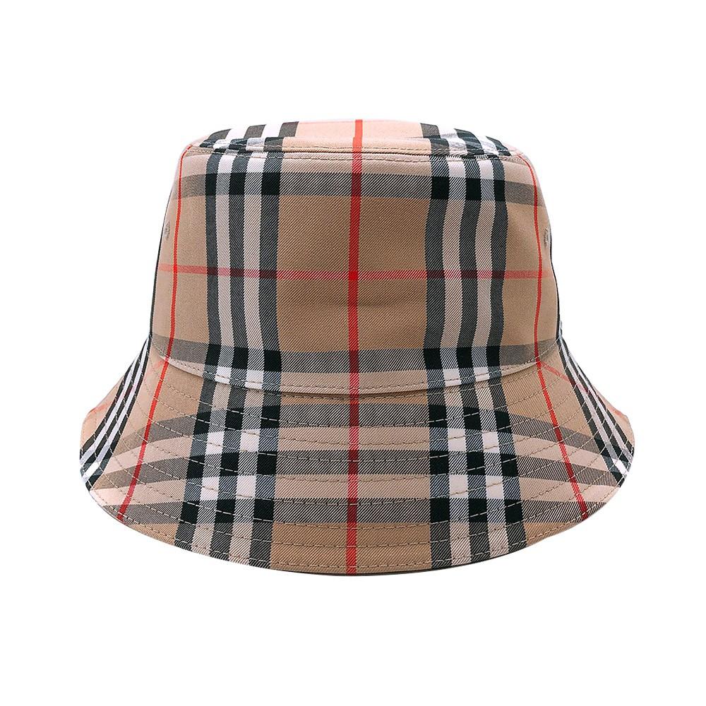 BURBERRY 經典Vintage Check格紋漁夫帽(8026927-卡其) 廠商直送