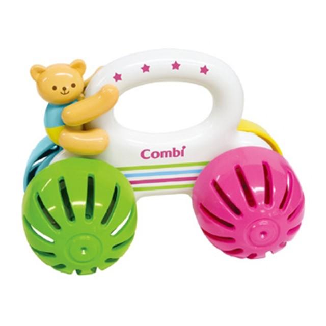 Combi 康貝-小熊車車手搖鈴 可愛婦嬰