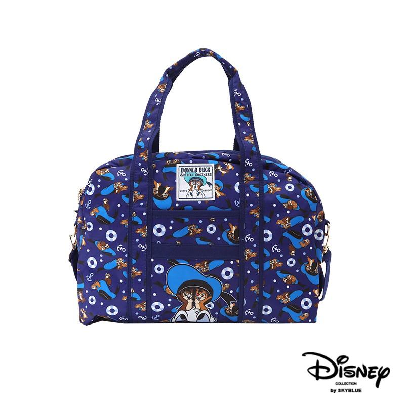 天藍小舖-迪士尼系列唐老鴨與奇奇蒂蒂款中款尼龍旅行袋-單1款-A13130084