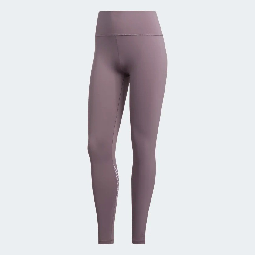 ADIDAS BELIEVE THIS 2.0 TORCH 女裝 長褲 慢跑 瑜珈 緊身 紫【運動世界】FJ7251