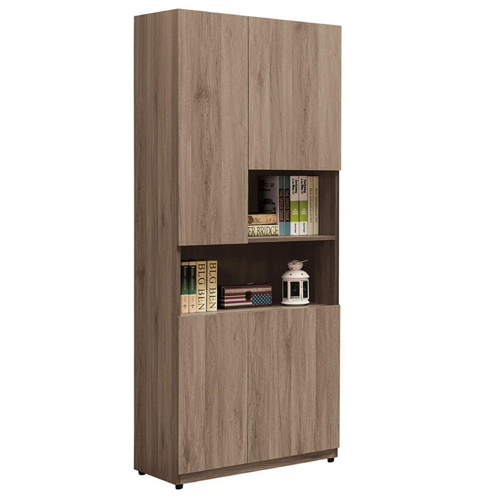 【75cm書櫃-A528-3】北歐工業 置物櫃 玻璃實木 書房書櫃書架 櫥櫃 層架收納整理 【金滿屋】