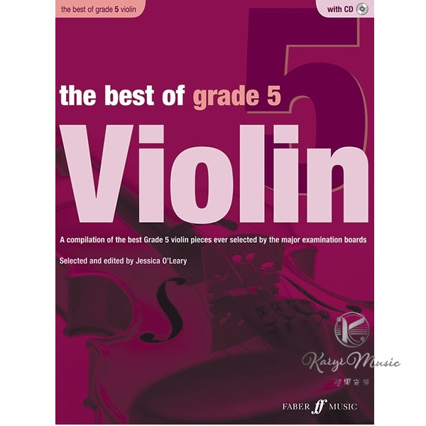 【Kaiyi Music】The best of grade 5 violin with cd