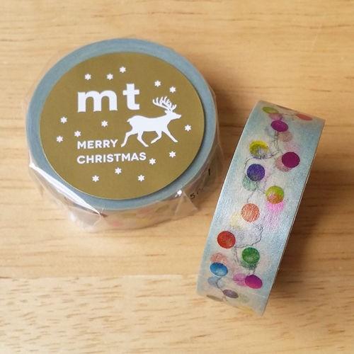 mt 和紙膠帶 Christmas 聖誕款(箔押)【聖誕燈飾 (MTCMAS56)】