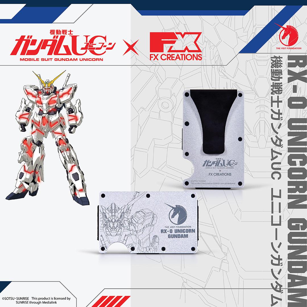 【獨角獸鋼彈聯名系列】RX-0 獨角獸鋼彈卡夾錢包-灰 GUCW002-21