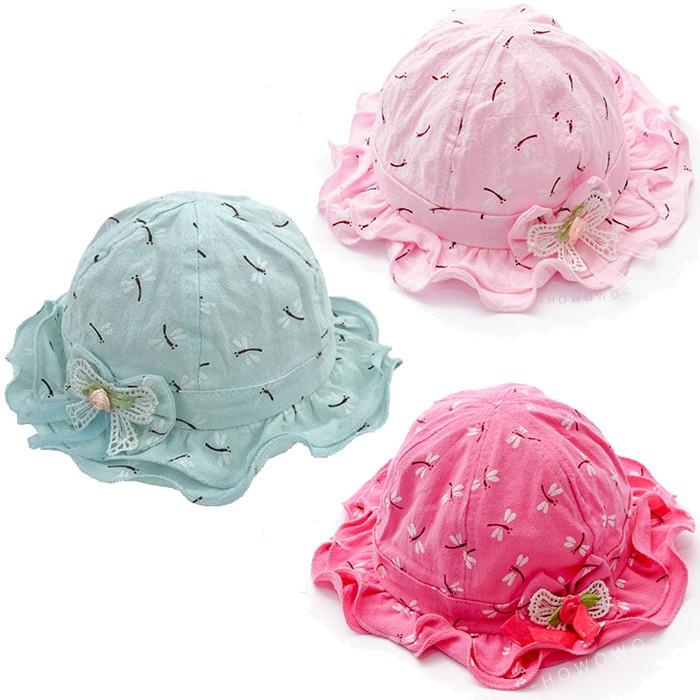 漁夫帽 蝴蝶結造型 遮陽帽 女寶寶帽 童帽 防曬 嬰兒帽 DL07829 好娃娃