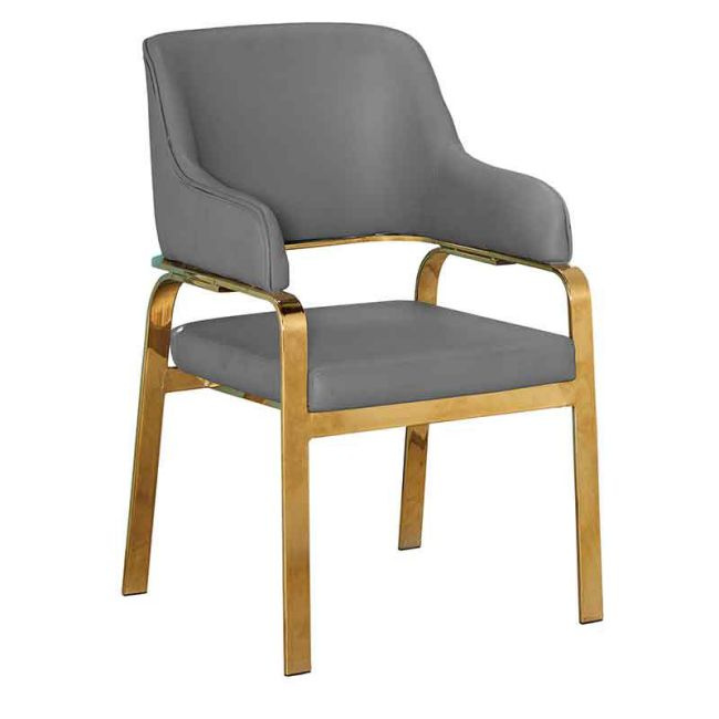 【GB705-9】美蒂奇深藕色皮餐椅(951)