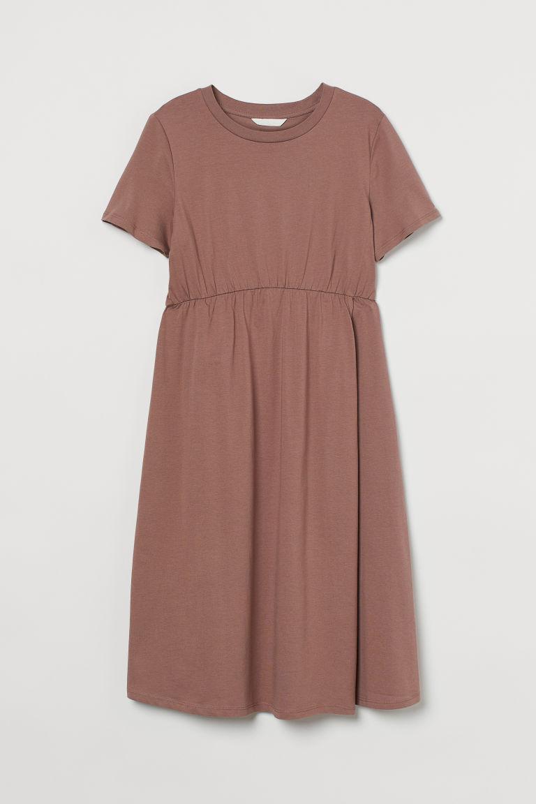 H & M - MAMA 棉質洋裝 - 褐色
