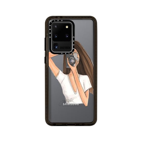 CASETiFY Samsung Galaxy S20 Ultra Impact Case - Focus (Transparent Camera Girl Fashion Illustration)