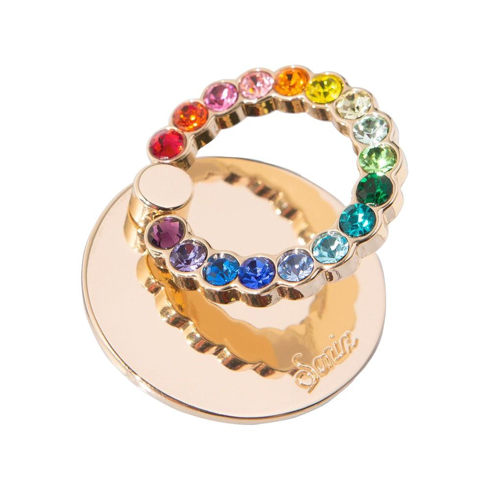 美國 Sonix Rainbow 繽紛彩鑽手機戒指支架