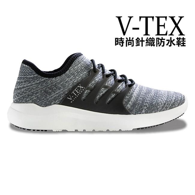 【V-TEX】時尚針織耐水鞋/防水鞋 地表最強耐水透濕鞋 - 慢跑鞋 - 律動灰(女)
