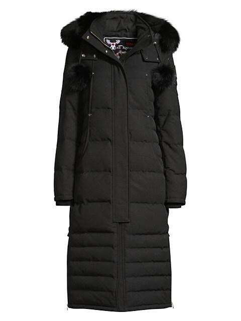 Saskatchewan Fur-Trim Hooded Quilted Parka