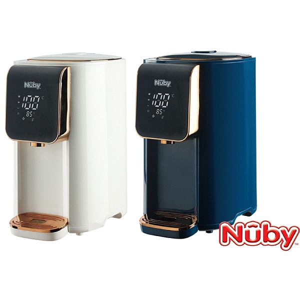 Nuby 智能七段定溫調乳器-純淨白/海軍藍【佳兒園婦幼館】