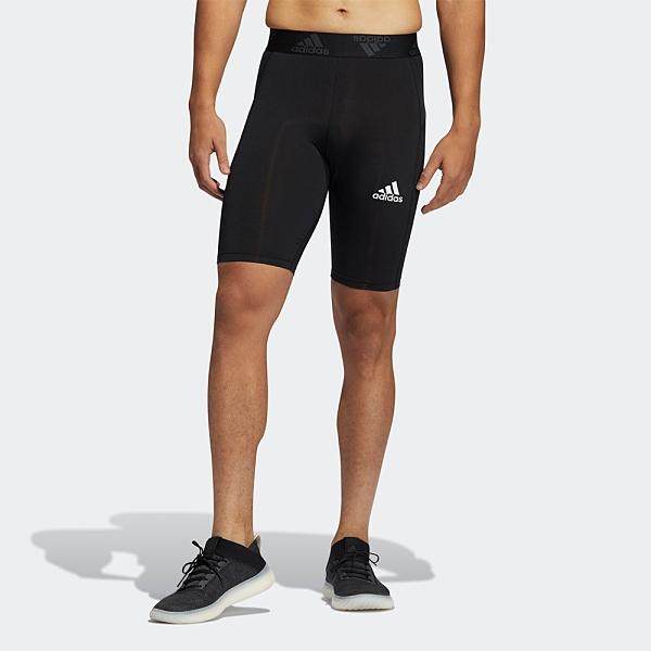【現貨】ADIDAS TECHFIT SHORT TIGHTS 男裝 短褲 緊身 訓練 健身 吸濕 排汗 黑【運動世界】GM5035