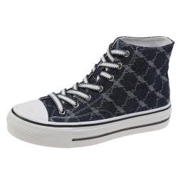 【Taroko】率性青春韓版平底交叉綁帶帆布鞋(2色可選)