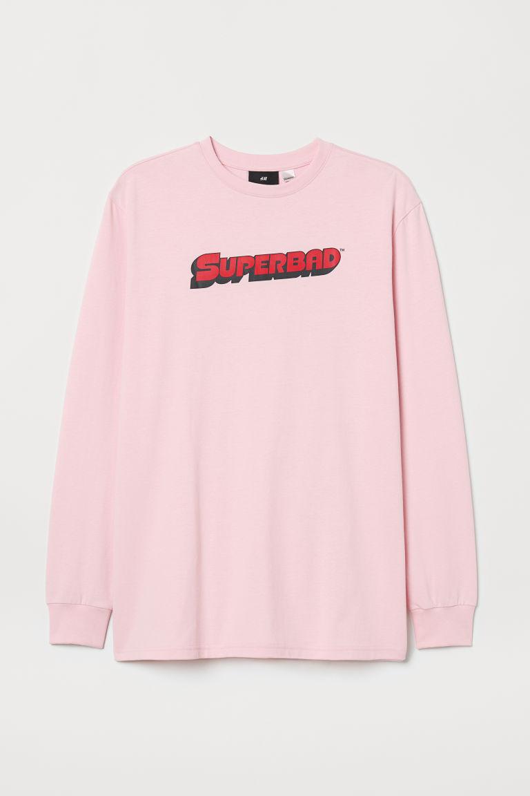 H & M - 圖案平紋上衣 - 粉紅色