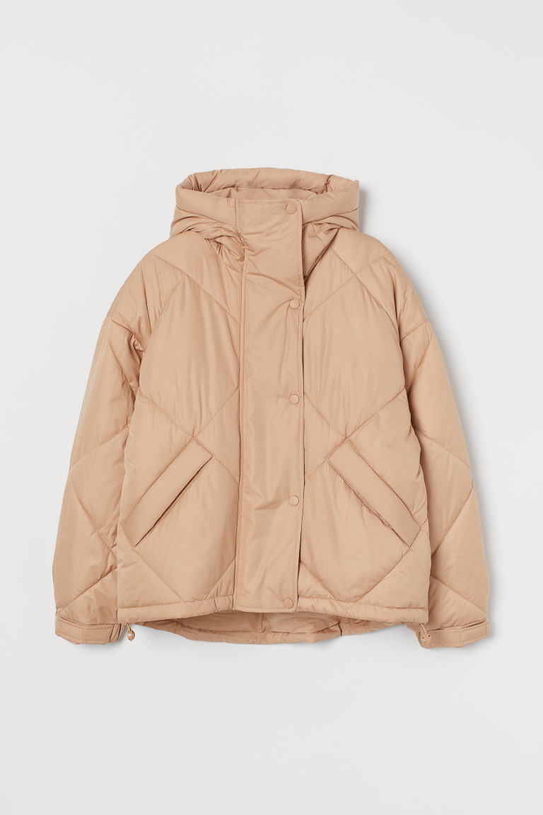 H & M - 車縫鋪棉外套 - 米黃色