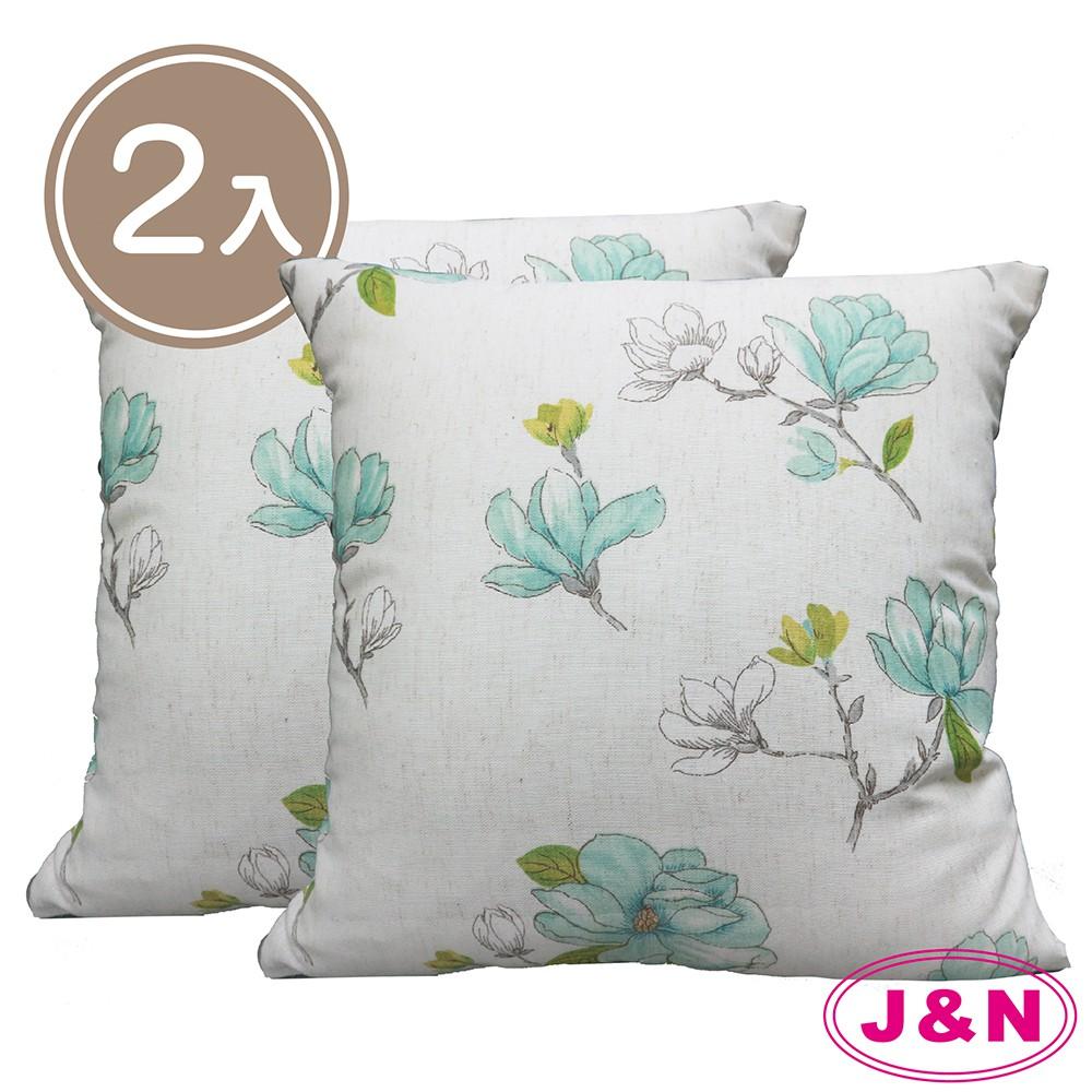【J&N】英倫雙面抱枕45*45-綠(2入/1組)12月社群快閃日