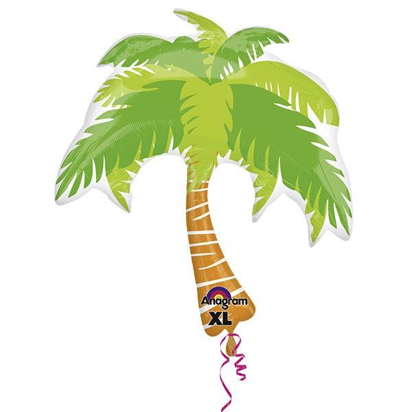 派對城 現貨 【74x82cm鋁箔氣球(不含氣)-椰子樹】 歐美派對 生日氣球 鋁箔氣球  派對佈置 拍攝道具
