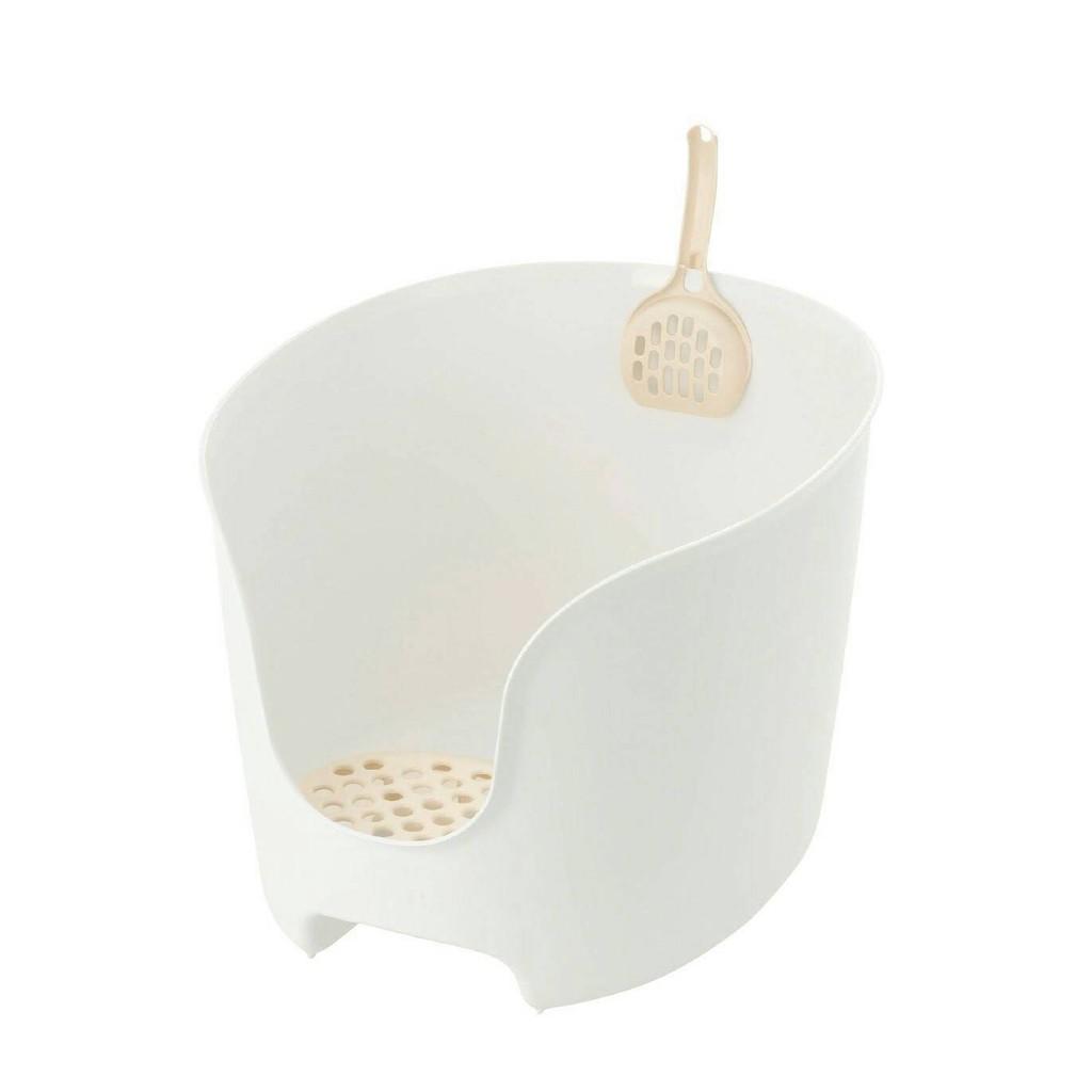 日本Richell《圍牆貓廁所貓砂盆-3種顏色》〔李小貓之家〕