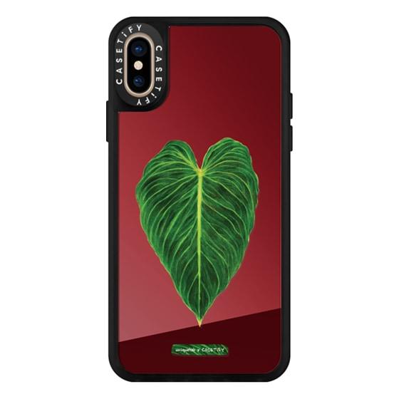 CASETiFY iPhone Xs Mirror Case - BOTANICAL PLANTS PHILODENDRON VERRUCOSUMxMELANOCHRYSUM H