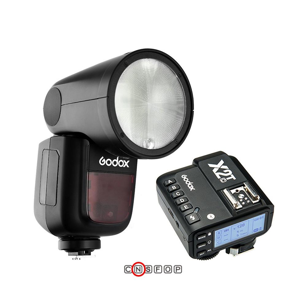 [免運] Godox神牛 V1 + X2 TTL發射器 For Nikon 鋰電圓燈頭閃光燈 相機專家 [開年公司貨]